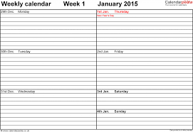 Fillable Calendars 2015 Weekly Calendar Templates 2015 Zaxa Tk Free Fillable Template 2