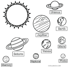 Solar System Color Planets Solar System Coloring Pages Pdf