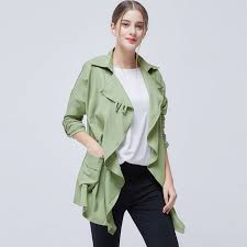 fashion trench coat women streetewear autumn winter casual slim waist cardigans coat long sleeve turn down