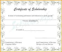 Scholarship Certificate Template For Word Memorial Scholarship Certificate Templates In Outlook Mac