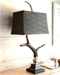 masculine table lamps stag horn antler lamp rustic lodge ranch target cow lamp deer horn