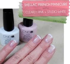 Mani Monday Shellac French Manicure Options Cnd Shellac
