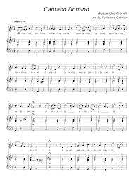 Cantabo Domino (Alessandro Grandi) Sheet music for Vocals, Organ (Mixed  Duet)   Musescore.com