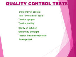 quality control tests for parenterals ppt  6 quality control tests uniformity of content test