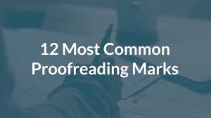 Printable Editing Marks Chart 12 Common Proofreading Marks And What They Mean