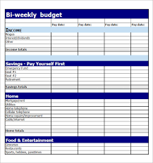 free download budget worksheet 7 bi weekly budget template