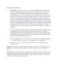 Doc Definitions Of Derivatives Sakib Surve Academia Edu