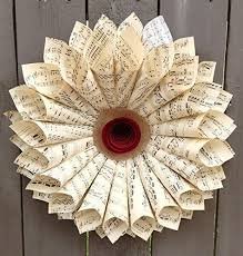 Christmas Paper Flower Wreath