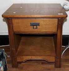 Lot 958  Oak Bedside Table  Lamp By Sherry Furniture H 60 X W  The Saleroom