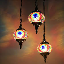 turkish mosaic lampshandcrafted led chandelier