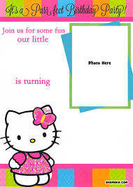 hello kitty photo invitations printable birthday invitation cards hello kitty download them or print