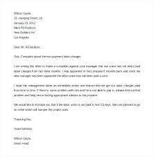 Formal Complaint Letter Format Sample Andeshouse Co