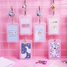 Designer Bus Pass Holder Multi Designs Cartoon Pendant Id Badge Bus Pouch Bag With Keychain Key Ring For Student Nurse New Bussiness Card Holders Card Holder Business From