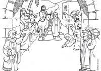 Bible Colouring Pages Zacchaeus With Fresh Coloring Page Palm Sunday