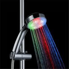 3 color led light home bathroom shower