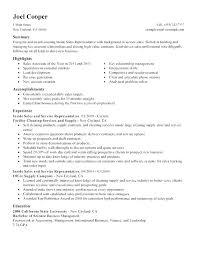 Sample Outside Sales Resume Resume For Sales Representative Blogue Me