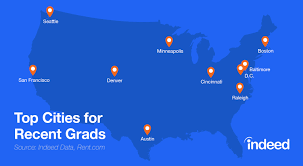 job search archives page 11 of 17 indeed blog the best cities for recent college graduates based on data from rent com and indeed