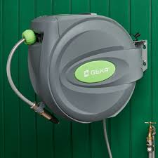 automatic garden hose reel.  Hose Automatic Garden Hose Reel German Designed To Really Last Rotates A Full  180 Degrees Throughout E