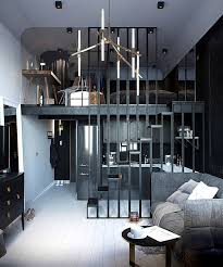 apartment interior design ideas. Wonderful Design For Some May Be Controversial But In This Case Becomes A Fact U2013 Using Dark  Gray And Black Colors Wonu0027t Make The Small Space Appear Smaller Quite  Apartment Interior Design Ideas