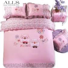 owl duvet cover cotton owl bedding sets cartoon embroidery bed linen cat duvet cover kids bedding set twin queen size bed set king size duvet pretty