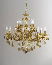 golden teak 12 light chandelier