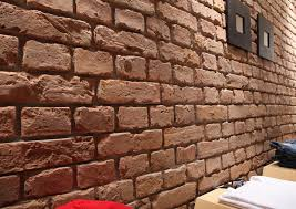 brick effect textured wall panels old british brick red