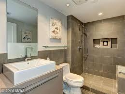 Daltile Bathroom Tile Modern 3 4 Bathroom With Travertine Tile Floors Built In