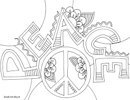 Awesome Peace Coloring Pages For Adults