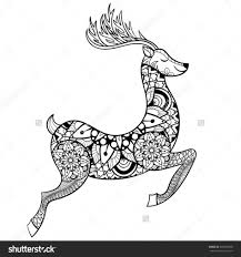 Small Picture Coloring Pages Reindeer Animal Coloring Pages Reindeer Color