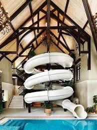 indoor pool house with slide. Fun An Amazing Swimming Pool Idea Awesome Indoor SLIDE :)) House With Slide
