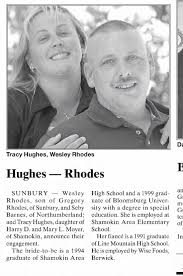 Wesley Rhodes and Tracy Hughes: Engagement - Newspapers.com