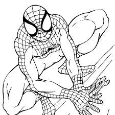 Small Picture Coloring Pictures Of Spiderman Kids Coloring Pictures Download