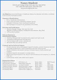 Resume Template Examples Free New College Student Resume Template