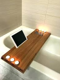 bathroom wine holder of wooden bath newfangled recent best bathtub tray ideas on vanity b