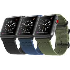 For iWatch Apple Watch <b>Series 4 3 2 1</b> 42/44mm Nylon Woven Band ...