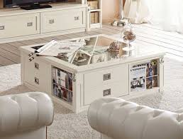 White Wood Coffee Table With Drawers White Wood Coffee Table Square With Drawers And Book Storage