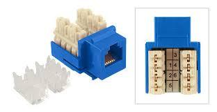 rj11 rj12 keystone jack blue 110 type rj11 rj12 keystone jack blue 110 type view 1