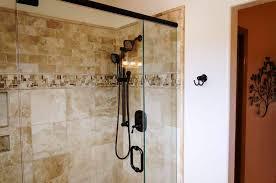travertine subway tile shower. Fine Shower Image Of Travertine Subway Tile Shower To C
