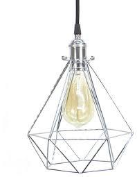 black chrome diamond cage pendant light