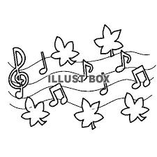 無料イラスト 秋の音楽 塗り絵