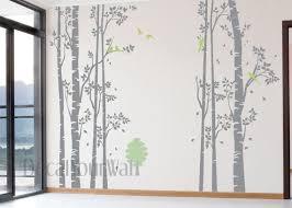 designyours 4 big birch tree wall decal