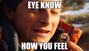 eye know how you feel - Bear Grylls Empathy - quickmeme via Relatably.com
