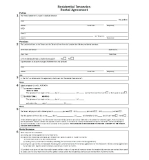 Generic Residential Lease Agreement Delectable Agreement Of Lease Residential Template Printable Sample Form Free