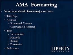 Ppt Ama Formatting Powerpoint Presentation Id3196157