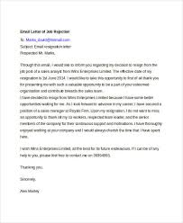 Email After Job Rejection Meloyogawithjoco Beauteous Resume Rejection Email