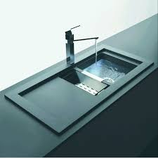 domus 1 5 bowl and drainer 1060mm x 525mm reversible cristalite inset kitchen sink dom d 150