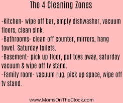 Zone Cleaning Chart For Kids How To Teach Your Kids To Work And Budget Money Moms On