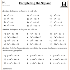 completing the square circles worksheet kidz activities math