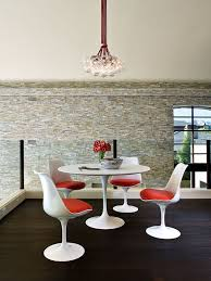 excellent sarineen table for you beautiful home midcentury dining room saarinen inspired round of