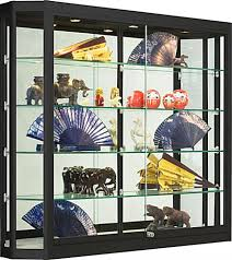 whole glass display cases that have sliding doors